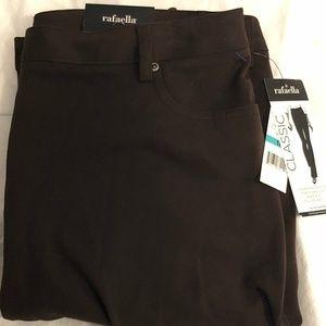 Rafaella Pants Size 16 Dark Chocolate Brown Pants